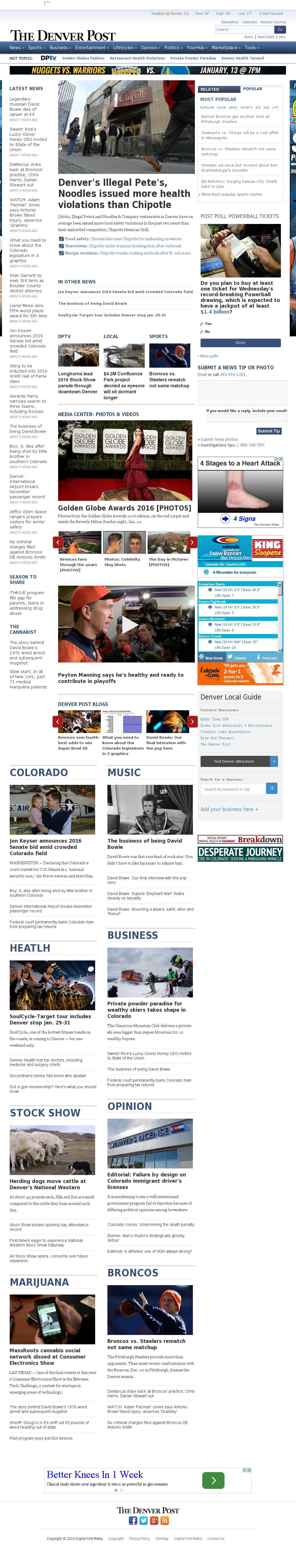 Denver Post at Monday Jan. 11, 2016, 8:04 p.m. UTC