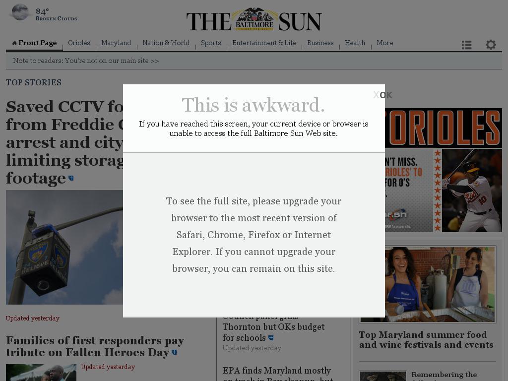 The Baltimore Sun at Saturday June 13, 2015, 1 a.m. UTC